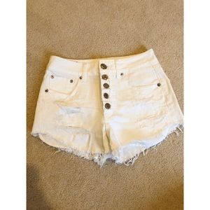 American Eagle Outfitters white jean shorts